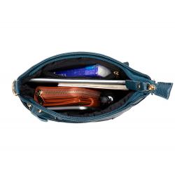 Сумка из натуральной кожи. Синий. 02-8363-1