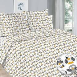 Детский комплект постельного белья Совы. 1,5 спальный, Бязь