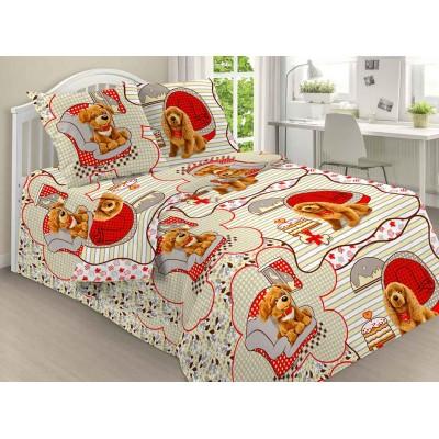 Детский комплект постельного белья 1816. 1,5 спальный, Бязь