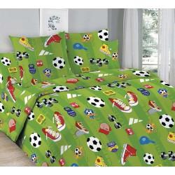 Детский комплект постельного белья Футбол. 1,5 спальный, Бязь