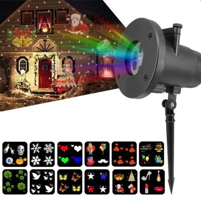Лазерный LED проектор, новогодний. 12 картриджей.
