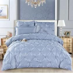 Комплект постельного белья E-shine Silk. Серебро.
